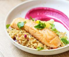 Saumon et quinoa