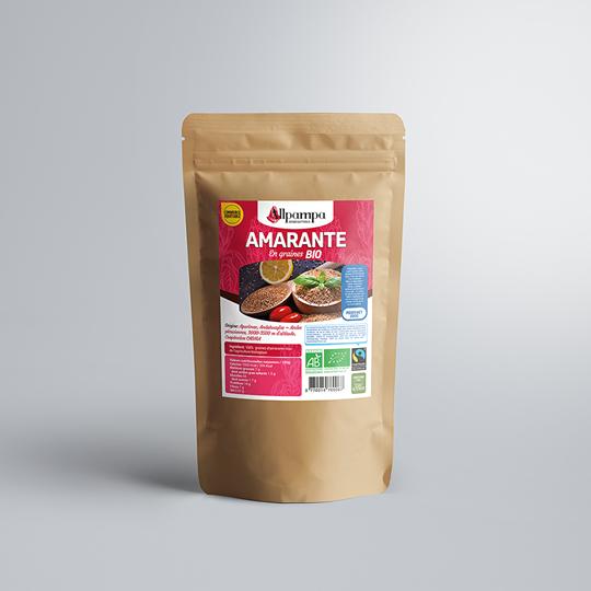 Graines d'amarante Allpampa, produits alimentaires biologiques et équitables, en vrac ou sachet, en provenance d'Amérique latine