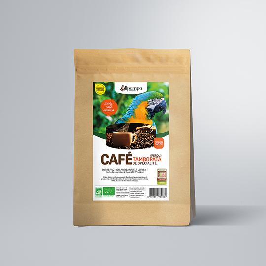 Café de spécialité Tombopata en grains d'Allpampa, produits alimentaires biologiques et équitables, en vrac ou sachet, en provenance d'Amérique latine