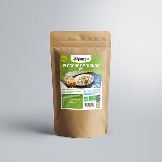 Flocons de quinoa d'Allpampa, produits alimentaires biologiques et équitables, en vrac ou sachet, en provenance d'Amérique latine