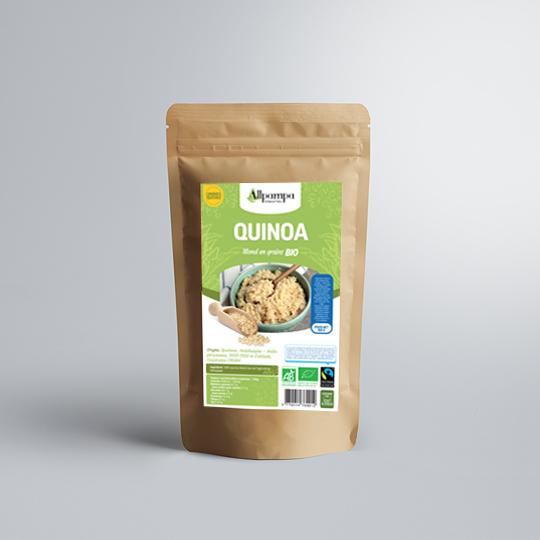 Quinoa blond d'Allpampa, produits alimentaires biologiques et équitables, en vrac ou sachet, en provenance d'Amérique latine