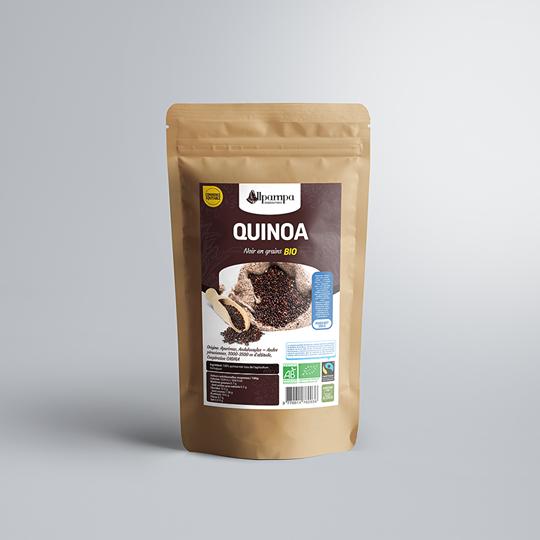 Quinoa noir d'Allpampa, produits alimentaires biologiques et équitables, en vrac ou sachet, en provenance d'Amérique latine