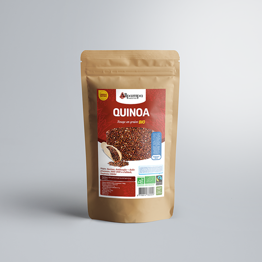 Quinoa rouge Allpampa, produits alimentaires biologiques et équitables, en vrac ou sachet, en provenance d'Amérique latine