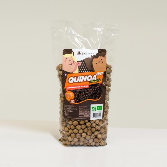 Quinoa soufflé au cacao Allpampa, produits alimentaires biologiques et équitables, en vrac ou sachet, en provenance d'Amérique latine