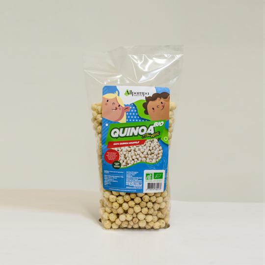 Quinoa soufflé nature Allpampa, produits alimentaires biologiques et équitables, en vrac ou sachet, en provenance d'Amérique latine