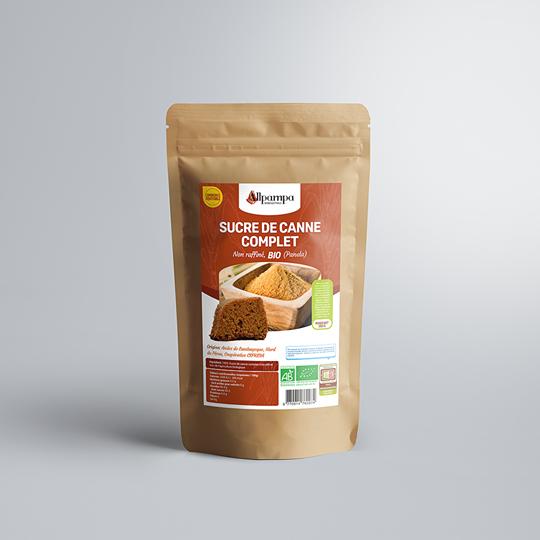 Sucre de canne complet Panela Allpampa, produits alimentaires biologiques et équitables, en vrac ou sachet, en provenance d'Amérique latine